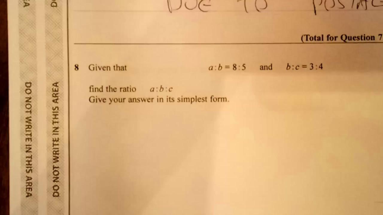 Comparing Ratios Higer New GCSE (9-1) Calculator Exam Question ...