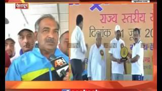 Uttarakhand Education and sports minister Arvind Pandey speaks on International Yoga day