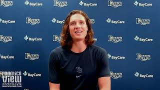 """Tyler glasnow talks blake snell trade """"hurting a bit"""", rays still """"competing with anyone out there"""""""