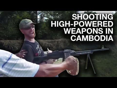 Shooting High Powered Weapons in Cambodia