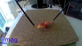 Урок по лапароскопии на тренажёре №1 (оригами). Laparoscopic Training