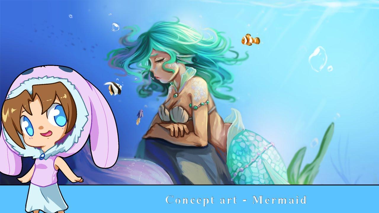 Anime Mermaid Concept Art