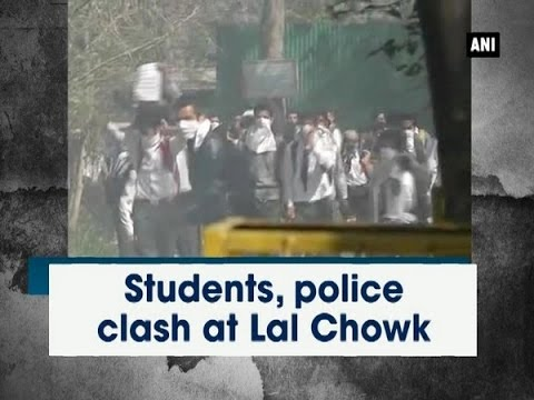 Students, police clash at Lal Chowk -  Jammu and Kashmir News