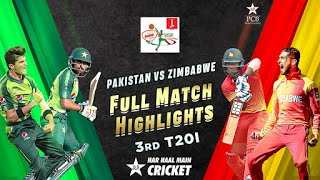 Full Highlights | Pakistan vs Zimbabwe | 3rd T20I 2020 | PCB | MD2T