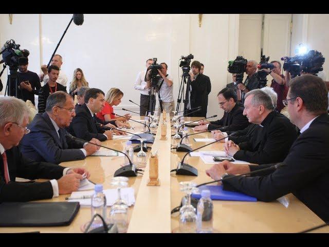 Переговоры С.В.Лаврова и Госсекретаря Ватикана П.Паролина