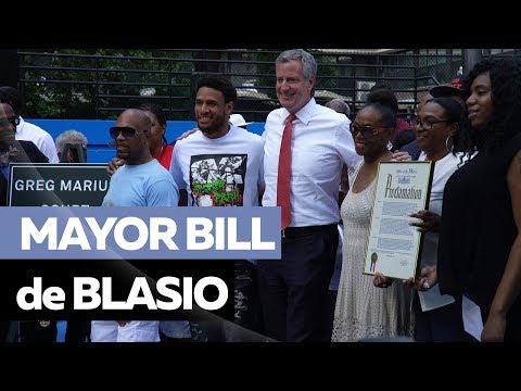 Mayor Bill de Blasio & Ebro Joins the Renaming Ceremony of the Legendary Rucker Park