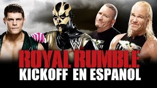 en Español Royal Rumble 2014 Kickoff - Cody Rhodes & Goldust vs. The New Age Outlaws