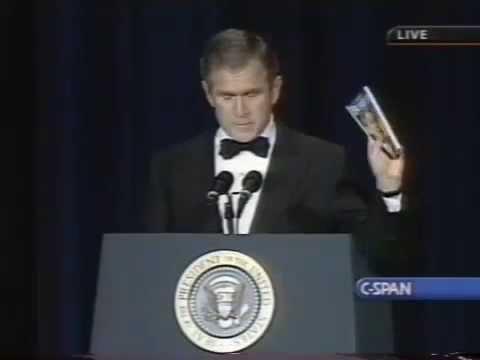 George W. Bush makes fun of his own grammar(Bushisms)