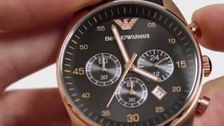 Наручные мужские часы Emporio Armani (качественная реплика). Видеообзор часов Эмпорио Армани(7 умных наручных часов, которые будут полезны каждому человеку в повседневной жизни: http://votzhezh.blogspot.ru/2016/04/7.html..., 2015-11-22T22:50:52.000Z)
