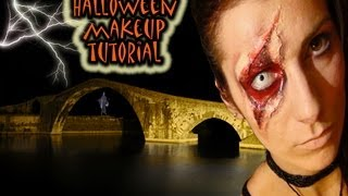 Special effect: burned skin, pelle bruciata Halloween make up