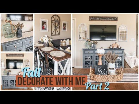 Fall Decorate with Me | Farmhouse Fall Decor | Part 2 | Fall Decor 2019
