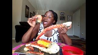 KING crab + snow crab +TIGER shrimp Mukbang