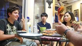 Vlog 219 ll Pizza đại chiến của gia đình Việt Mỹ
