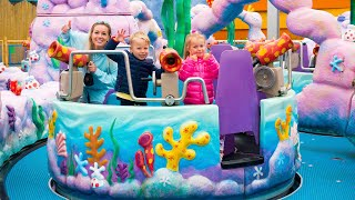 Amusement Park and Exciting rides for kids with Gaby and Alex