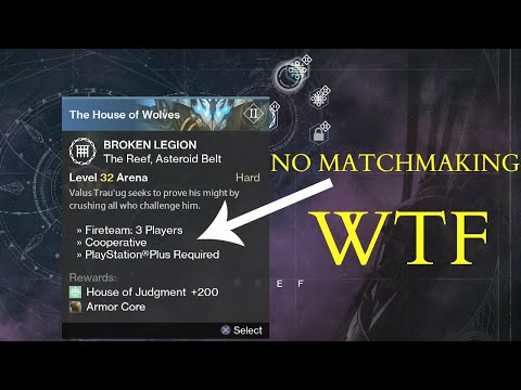 Why is there no matchmaking for nightfall