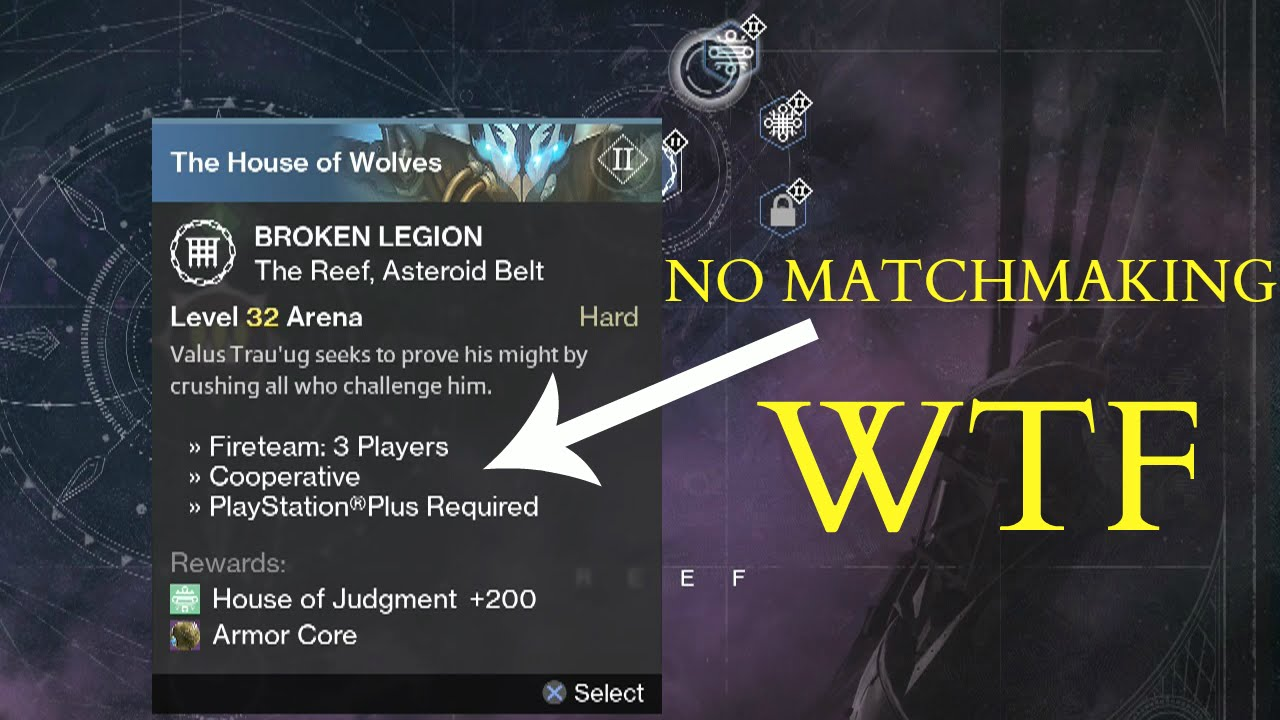 Destiny House Of Wolves No Matchmaking