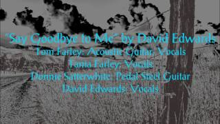 Say Goodbye to Me - By David Edwards (Performed by Tom Farley)