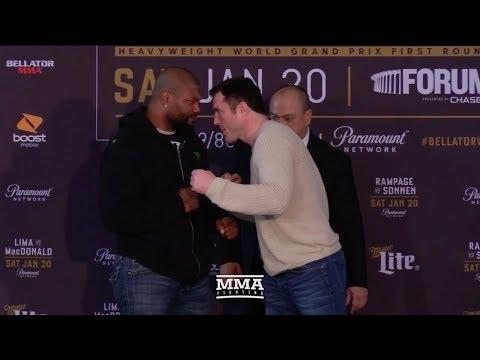 Bellator 192: Rampage Jackson vs. Chael Sonnen Staredown - MMA Fighting