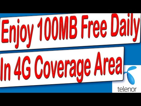 Free Telenor 4G Internet 100Mb Daily || Check 4G/3G Coverage