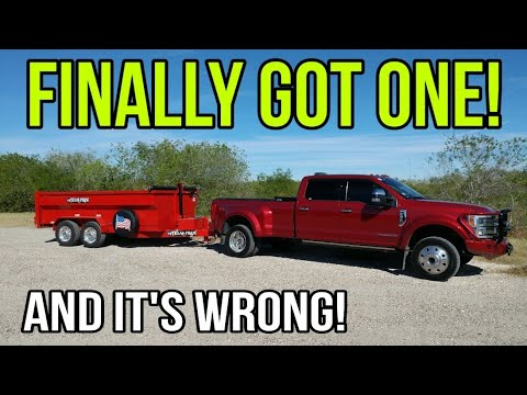 Finally Got This For My F450. Plus My New Dump Trailer Gets An Incorrect Upgrade!