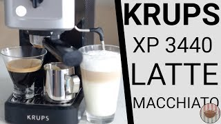 Krups XP 3440 Home Espresso Machine - Espresso and Latte Macchiato