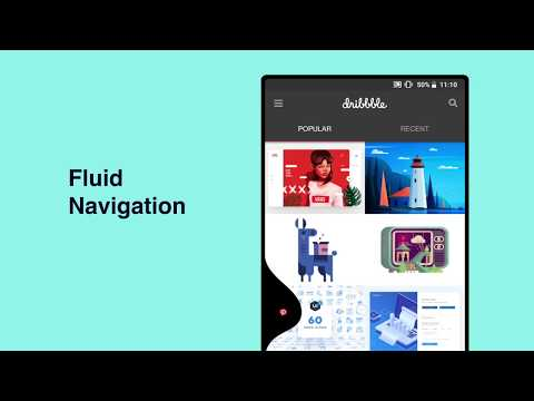 Navigate on Android in Style with Fluid Navigation Gestures