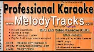 Jhumka gira re - Asha bhosle KarAoke - www.MelodyTracks.com