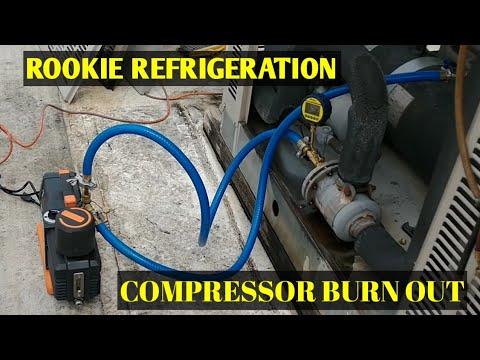 HVAC Refrigeration: 6D Compressor Changeout and Evacuation with the Navac  12cfm vacuum pump