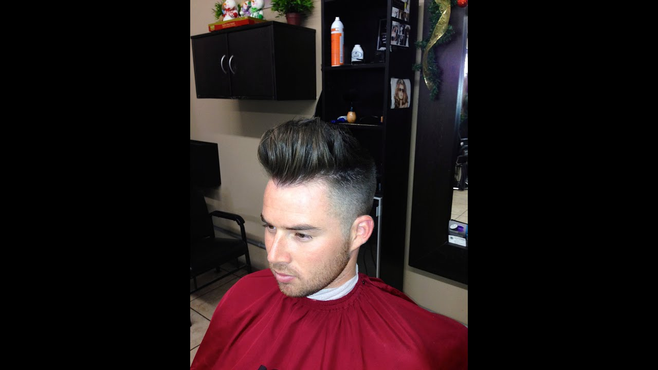 How To Cut A Modern Pompadour Haircut Step By Step Tutorial Youtube