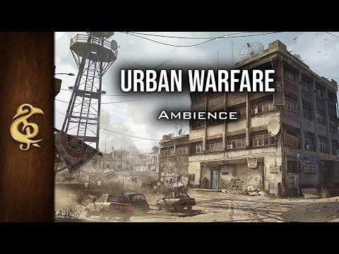 🎧 RPG / Modern Ambience - Urban Warfare | Tanks, Helicopters, Explosions, Machine Guns, Bombing