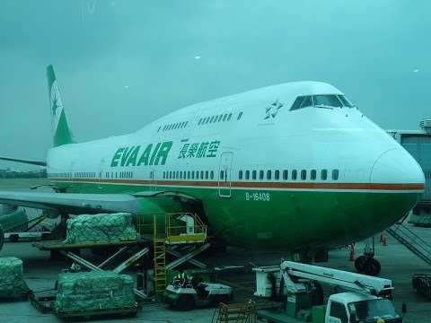 EVA AIR Boeing 747 COMBI In-Flight Taipei to Manila Economy Experience