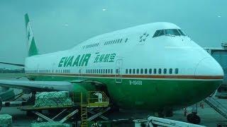 EVA AIR Boeing 747 COMBI In-Flight Taipei to Manila Economy Experience