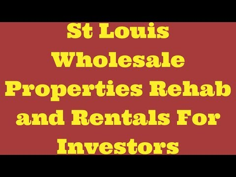 St Louis Wholesale Properties Rehab and Rentals For Investors