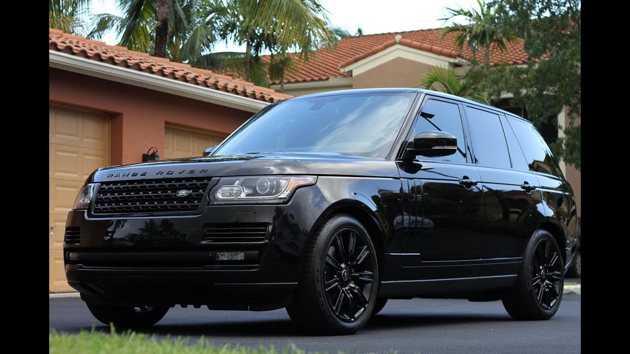 2015 range rover hse black tie edition by advanced detailing of south florida youtube. Black Bedroom Furniture Sets. Home Design Ideas