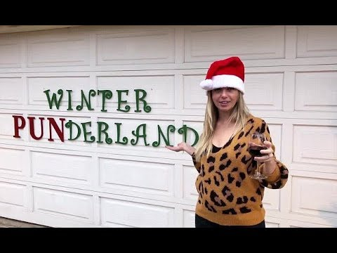 California couple decorate the house for Christmas in puns