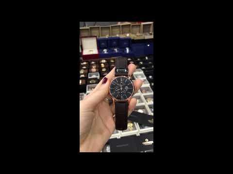 Orient Men's 41mm Automatic Brown Calfskin Synthetic Sapphire Watch FEZ09001B0