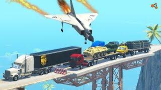 Beamng drive - Breakable Car Bridge Crashes #2