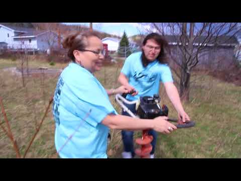 Tree Planting at ABMHS - Eskasoni, Cape Breton, Nova Scotia