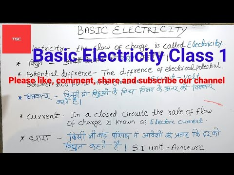 # ITI ELECTRICIAN CLASS 1 ( BASIC ELECTRICITY)// THE STUDY CENTER