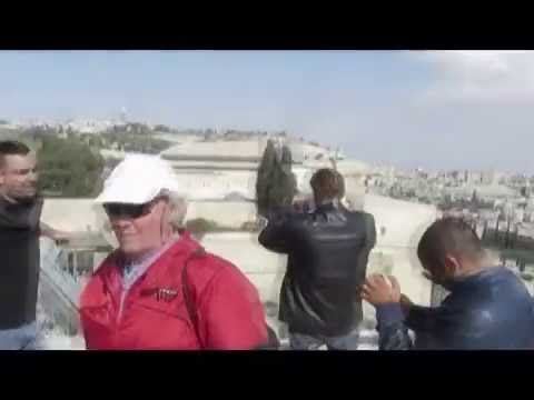 "Observation on the Temple Mount, Muslim Quarter & Mount of Olives from ""Aish HaTorah Yeshiva"""