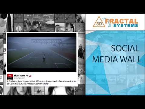 Social Media Wall - F1 Paddock (Abu Dhabi Executive Council