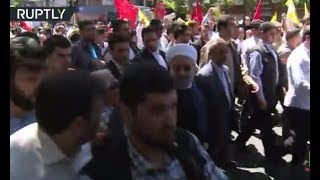 الرئيس روحاني يشارك في مسيرة يوم القدس العالمي