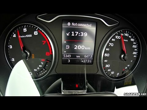 2014 Audi A3 Cabrio 14 TFSI 0100kmh Acceleration and Engine Sound