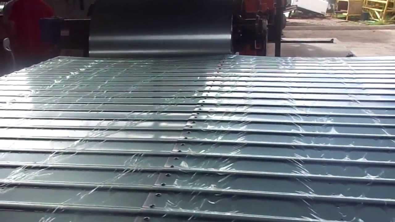 Linha de frisar e furar para laterais de ba s de caminh es - Chapa aluminio leroy merlin ...