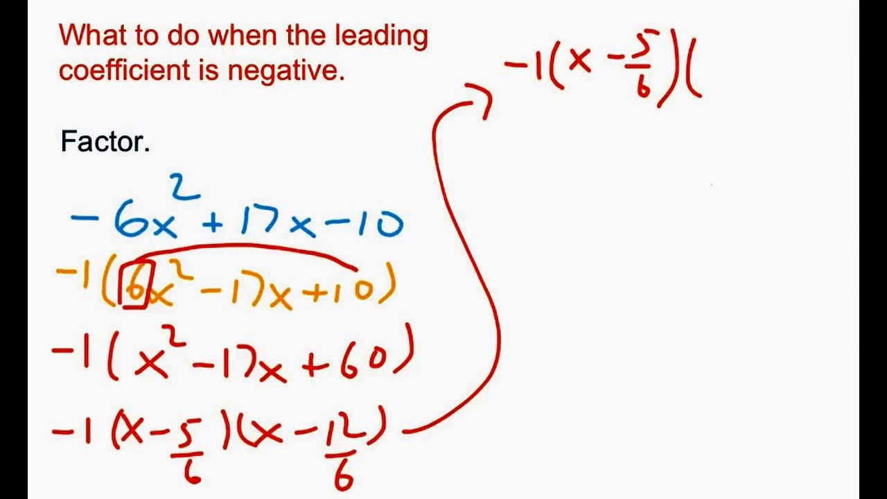 Slip And Slide Factoring Trinomials Part 2 Leading Coefficient Is