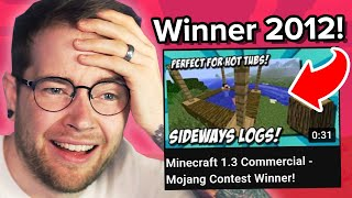 i won a minecraft contest in 2012..