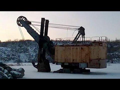 Заброшенный карьерный экскаватор ЭКГ-5 (сталк)