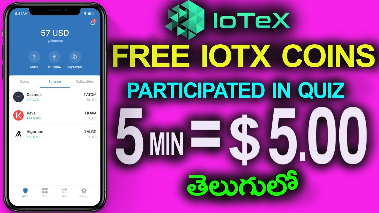 How To Earn IOTX Coins Free