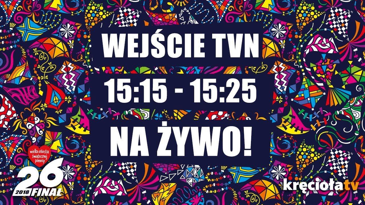 26. Finał WOŚP na żywo!  TVN 15:15 – 15:25