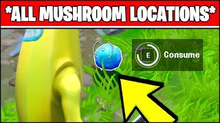 CONSUME FORAGED MUSHROOMS LOCATIONS (Fortnite SEASON X Week 3 ALL MUSHROOM LOCATIONS)